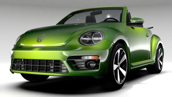 Vw Beetle Convertible Turbo 2018 Model Max Obj Mtl S Fbx C4d Lwo Lw Lws