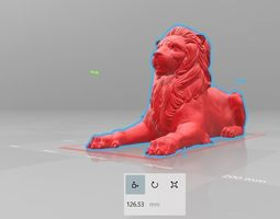 lion sitting pose 3d print ready and can be rescaled to 1