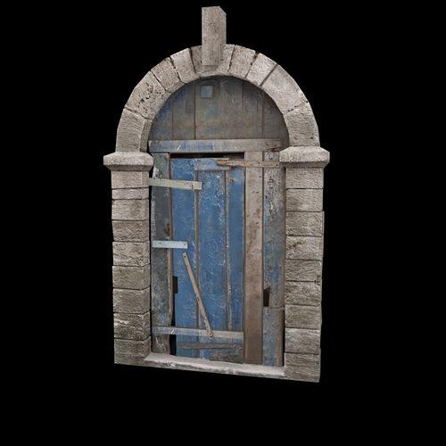 old door 3d model low-poly max obj mtl 3ds 1