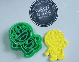 3D print model Doraemon Cookie Cutter