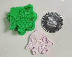 Stitch cookie cutter cartoon 3D print model