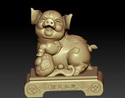 lucky pig 3d 3D printable model