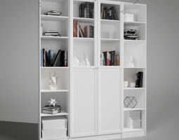 3D Shelf and books decor Collection