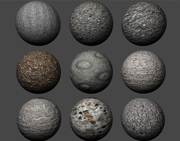 3D model Concrete Textures Pack 3