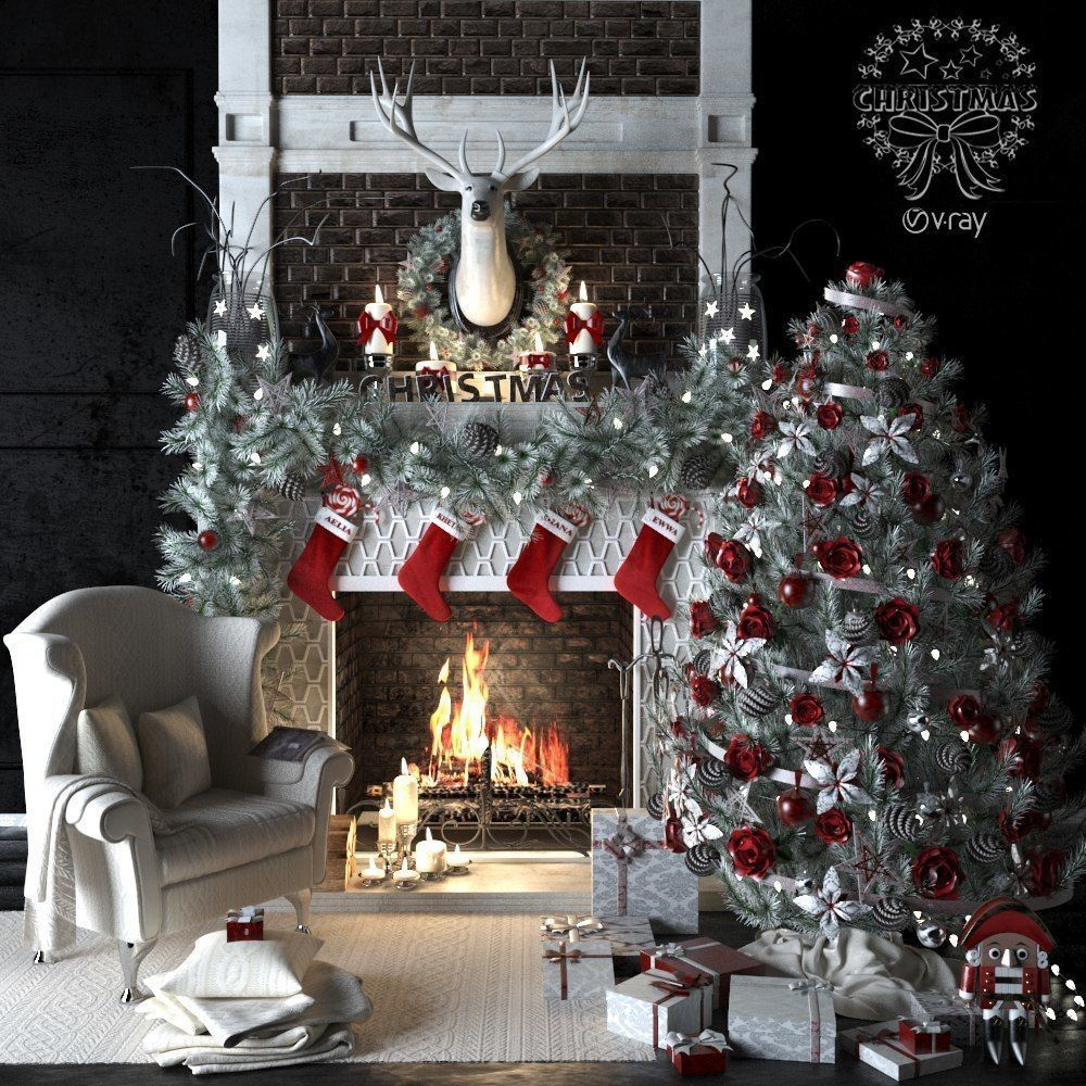 AVE Christmas set 3dsmax