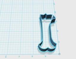 3D printable model Vintage number 1 cookie cutter