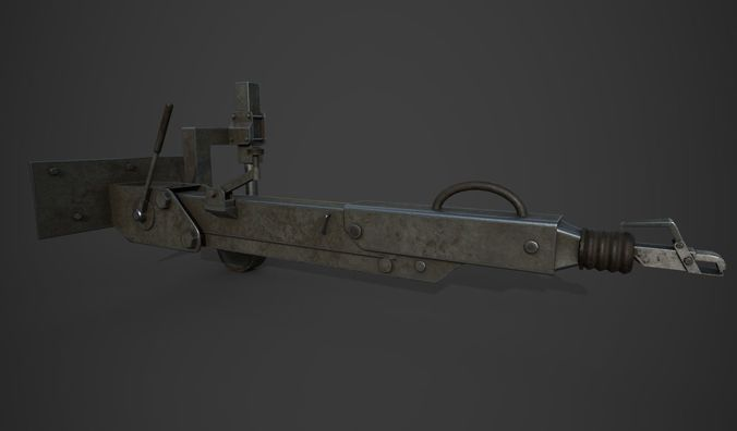 towing device 3d model low-poly obj mtl 3ds fbx blend 1
