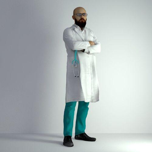 3d scan man doctor 026 3d model max obj fbx mtl 1