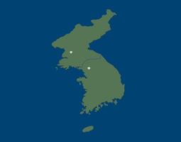 3D model Korean Peninsula north