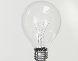 3D PBR bulb Incandescent Light Bulb