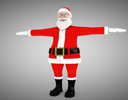 Santa Claus Rigged 3d Model and different Face rigged