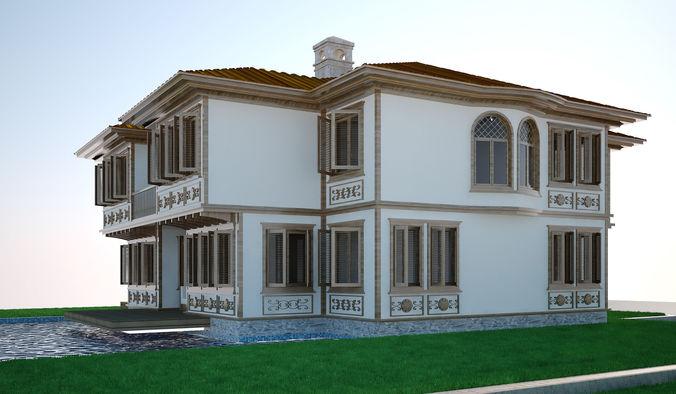 modern turkish house set 3d model max 13 - Modern Trkis