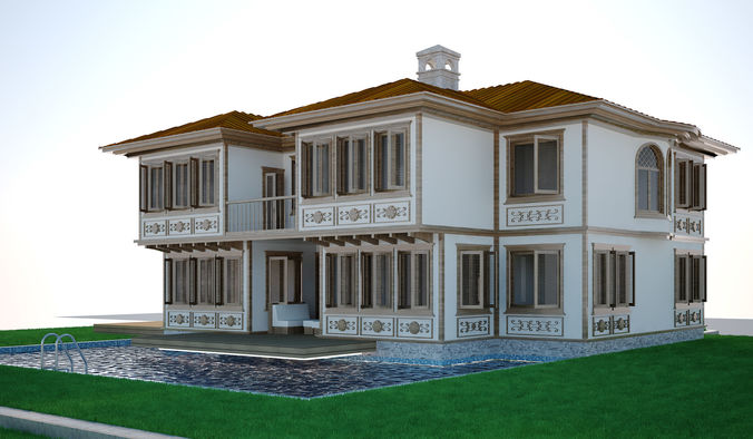 modern turkish house set 3d model max 11 - Modern Trkis