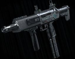 SCMG-19 Sub Machine Gun 3D asset