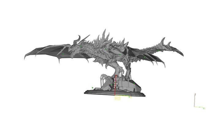 skyrim dragon  3d model stl 1