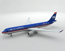 3D model Airbus A330 Airliner - US Airways