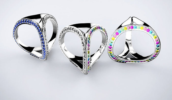 three rings 3d model stl 1