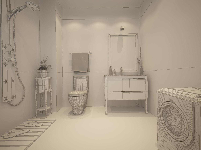 3D model Family style sanitary bath toilet 1821 | CGTrader