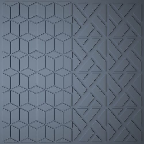 polygonal panel 3d model max fbx 1