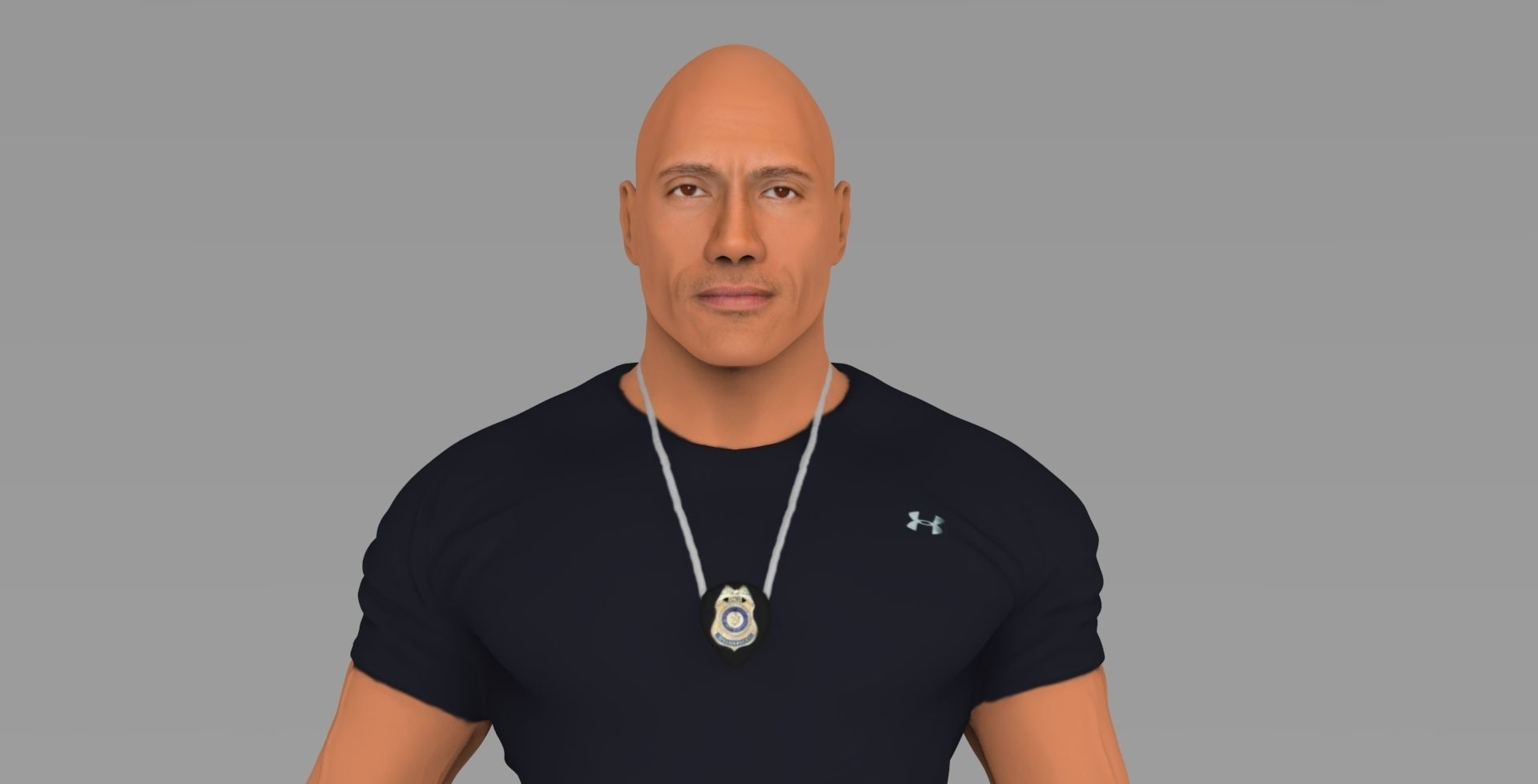 Dwayne Johnson Fast and Furious ready for full color 3D printing