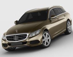 3D Mercedes C Class estate 2014 exclusive