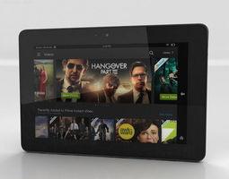 Amazon Kindle Fire HDX 7 inches 3D model