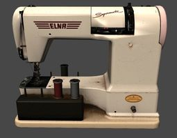 LowPoly Sewing Machine 3D asset
