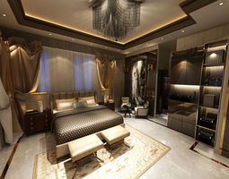 Master Bed Room 3D interior
