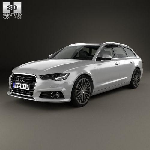 3d Model Audi A6 C7 Avant 2015 Cgtrader