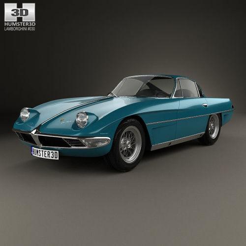 lamborghini 350 gtv 1963 3d model max obj 3ds fbx c4d lwo lw lws 1