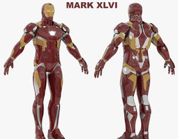 Iron Man Mark XLVI RIGGED 3D