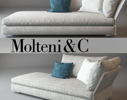 Holiday Sofa daybed Molteni 3D