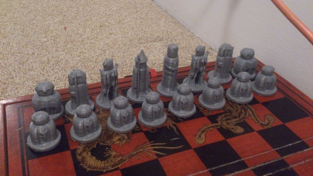 Lord Of The Rings Chess Set Free 3d Model 3d Printable Stl