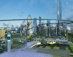 3D model Future City - Science Fiction Scene
