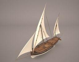 US Navy Brig Eagle carronade 3D model