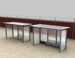 3D model Bus Stop Modern