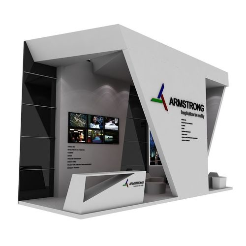 armstrong exhibition booth 3d model max obj mtl fbx 1