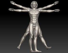 Vitruvian Man High For 3D Printing
