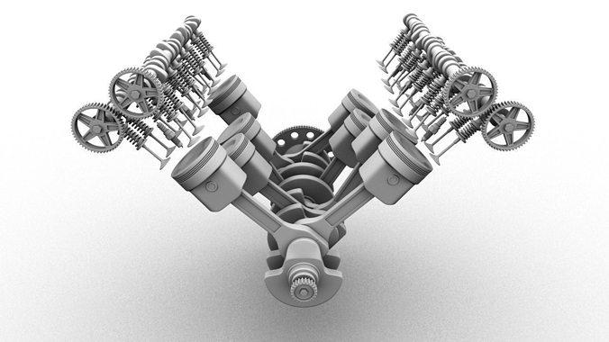 V8 Engine Animation 3D V8 Engine | CGTrade...