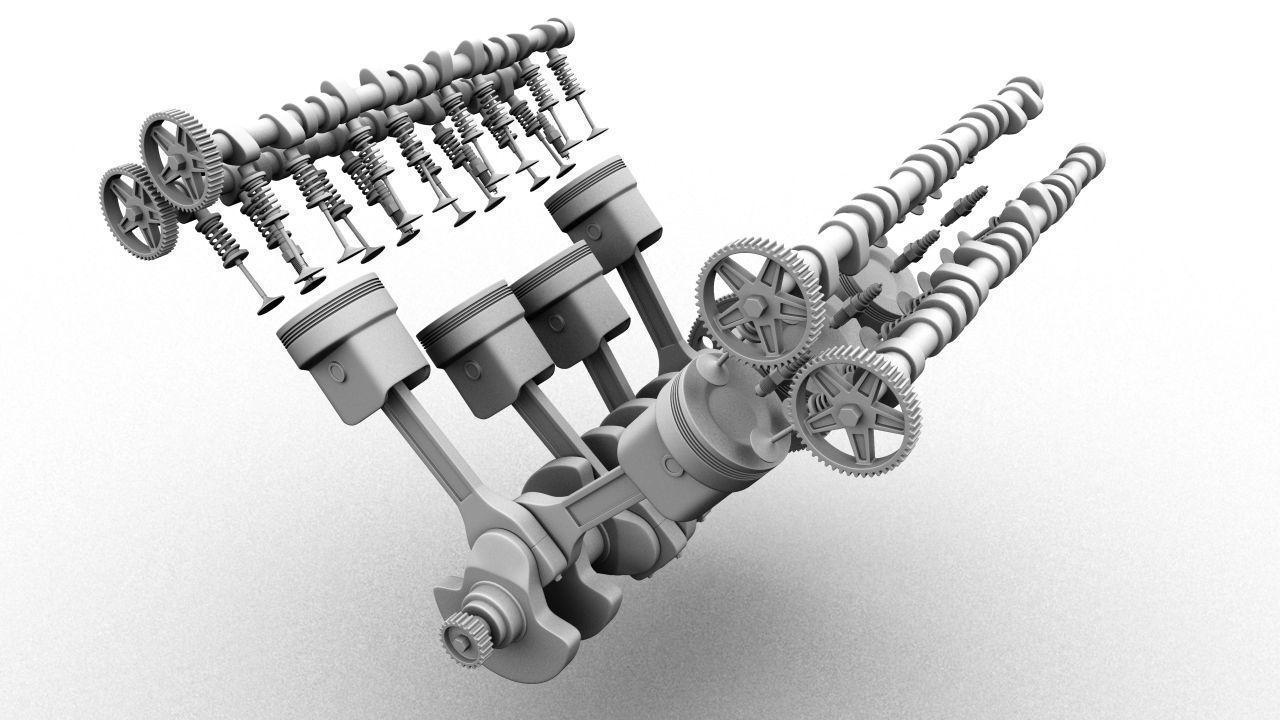 V8 Engine Animation V8 Engine 3D Model ani...