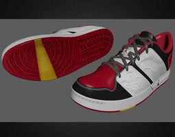 3D Jordan Nu Retro 1 Low RED BLACK