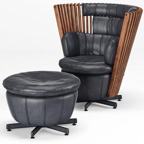 tavarua armchair and ottoman by pacific green 3d model max obj mtl 1