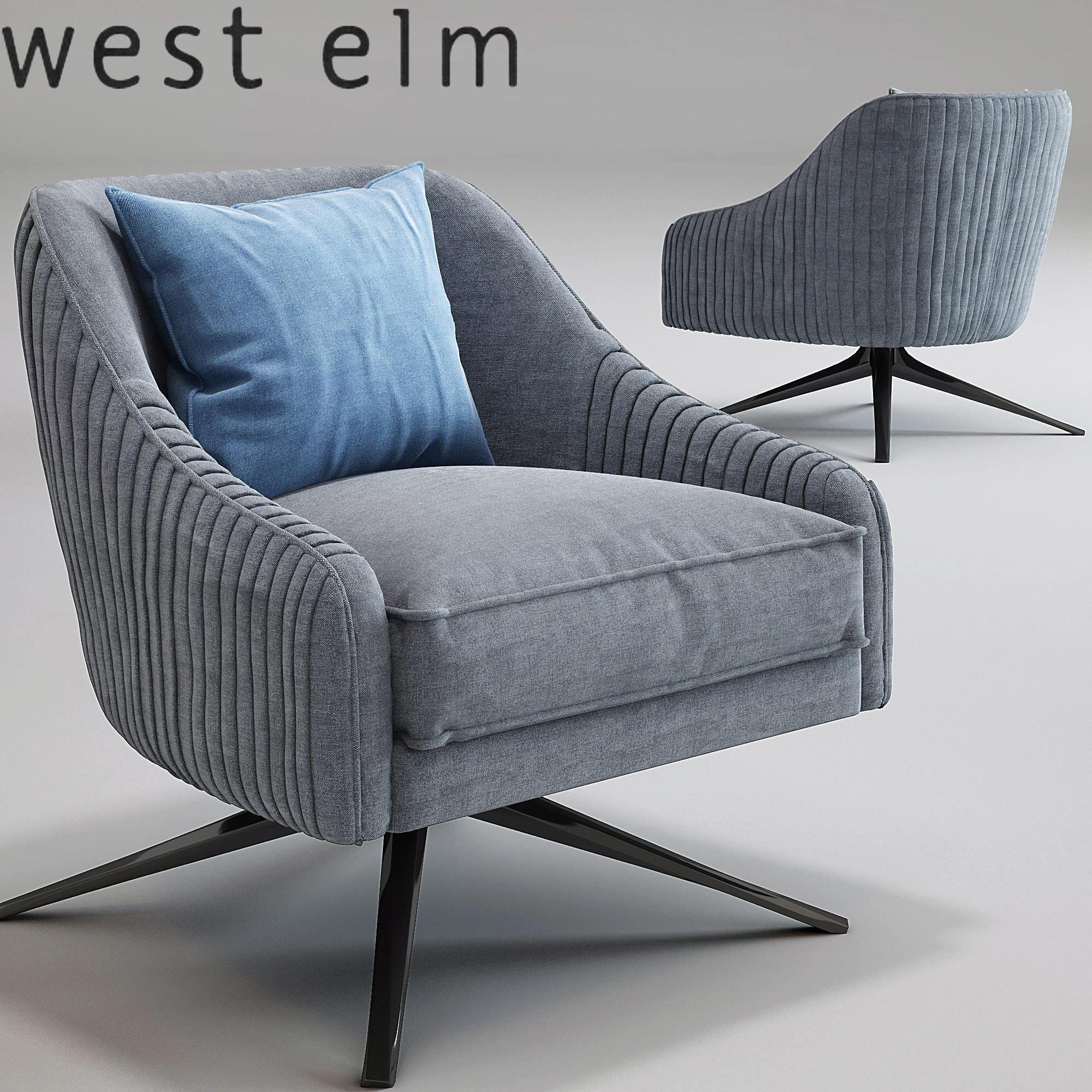 Roar Rabbit Swivel Chair West Elm 3d Model Max Obj Mtl ...