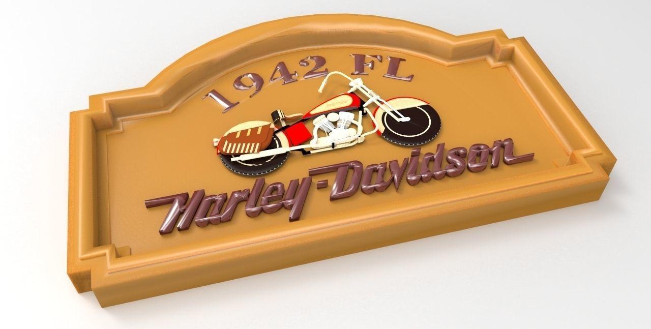 1942 FL Harley Davidson Sign