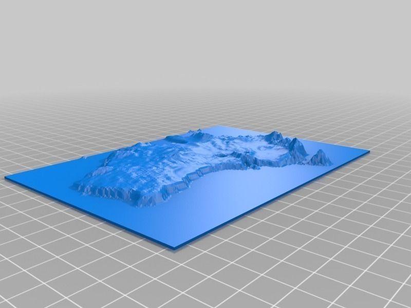 Free 3d Map Of Australia.Australia Map 3d Printable Model Cgtrader
