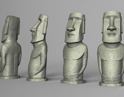 3D printable model Moai statue - Easter Island deco