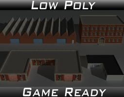 3D model Factory Building Set 1