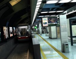 character 3D model Subway station 1205