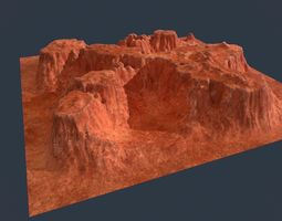 Low poly canyon environment asset realtime