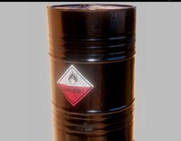 Oil barrel PBR Game-Ready 3D asset